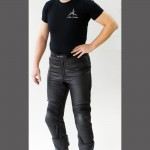 Motorrad Lederhose mit Protektoren