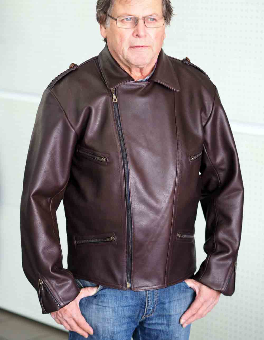 Motorcycle Jackets leather Mod. Veteran Jacke