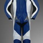 Rennkombi aus Känguruleder Modell Hellracer in blau